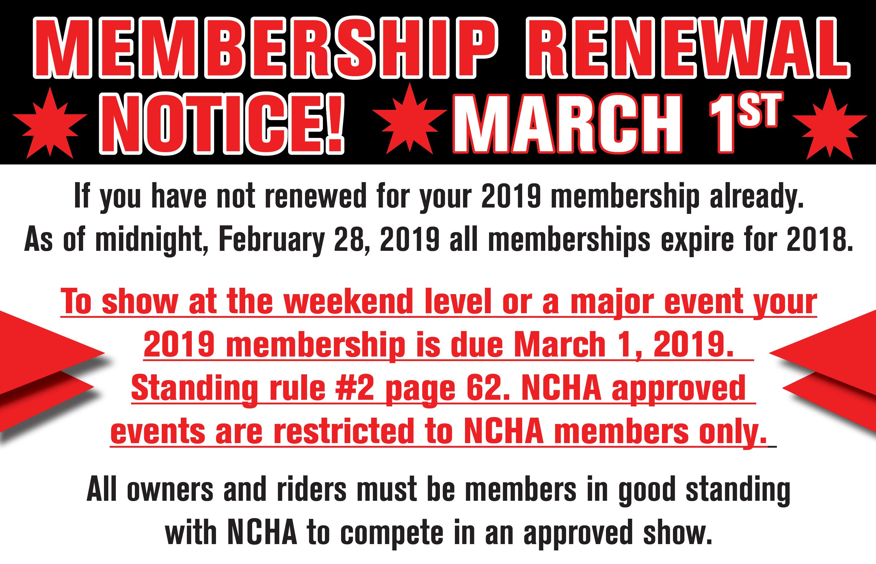 Membership DEADLINE MARCH 1 carousel